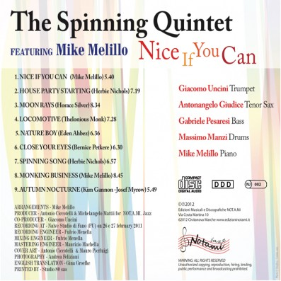 The Spinning quintet - Nice if you can - feat. Mike Melillo