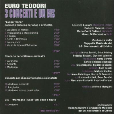 Euro Teodori - 3 Concerti e un bis