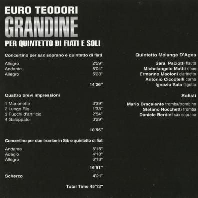 Euro Teodori - Grandine per quintetto di fiati e soli
